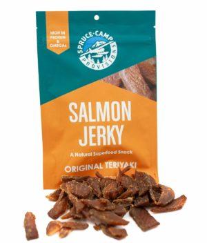 Salmon Teriyaki Jerky spruce camp